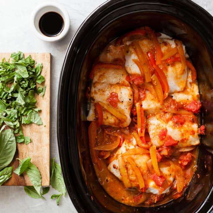 Slow-Cooker Cod Peperonata