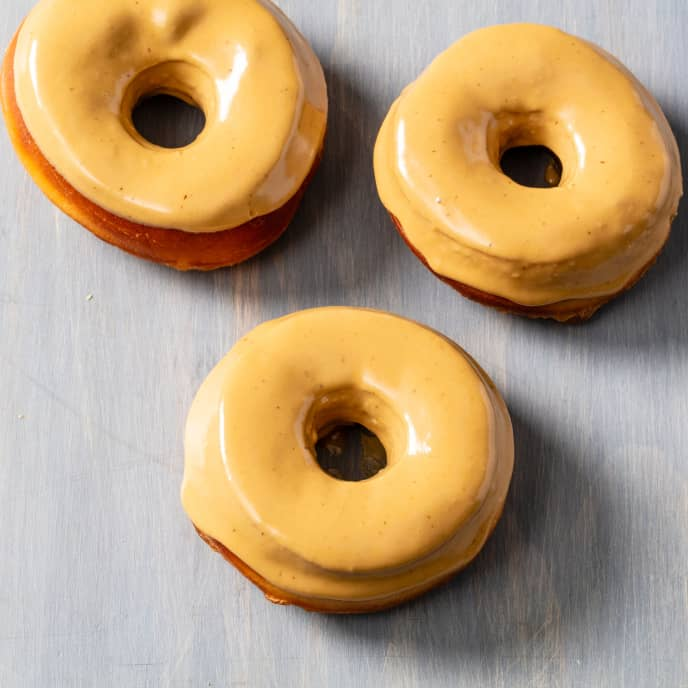 Yeasted Doughnuts with Coffee Frosting