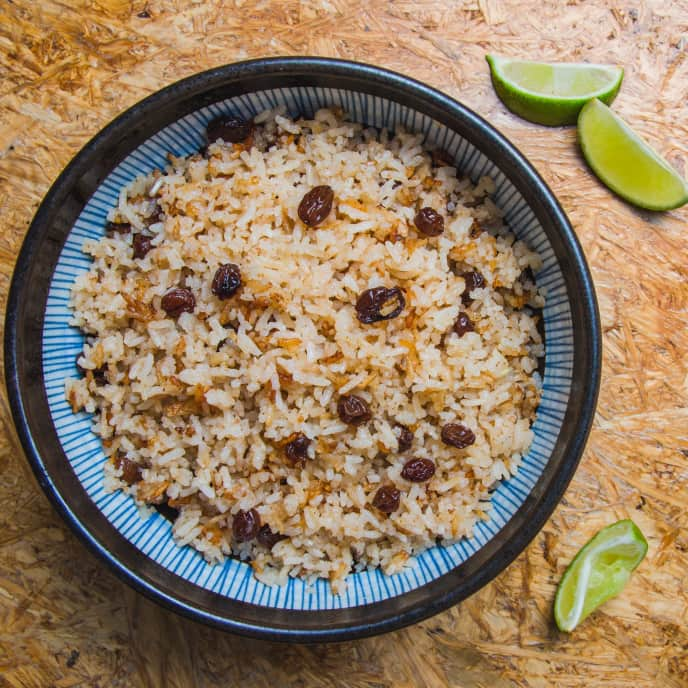Arroz Con Titoté (Colombian Coconut Rice)