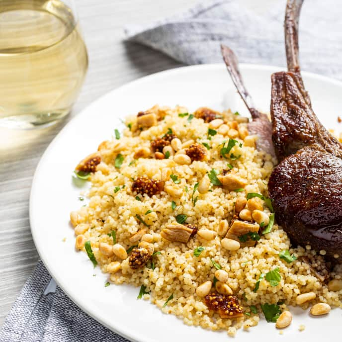 Couscous with Cumin and Pine Nuts for One