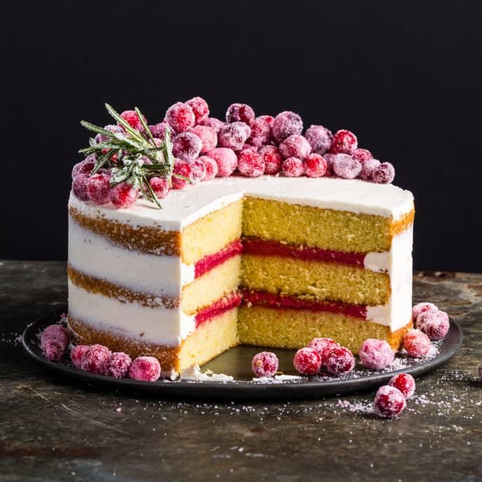 Cranberry-Orange Olive Oil Cake