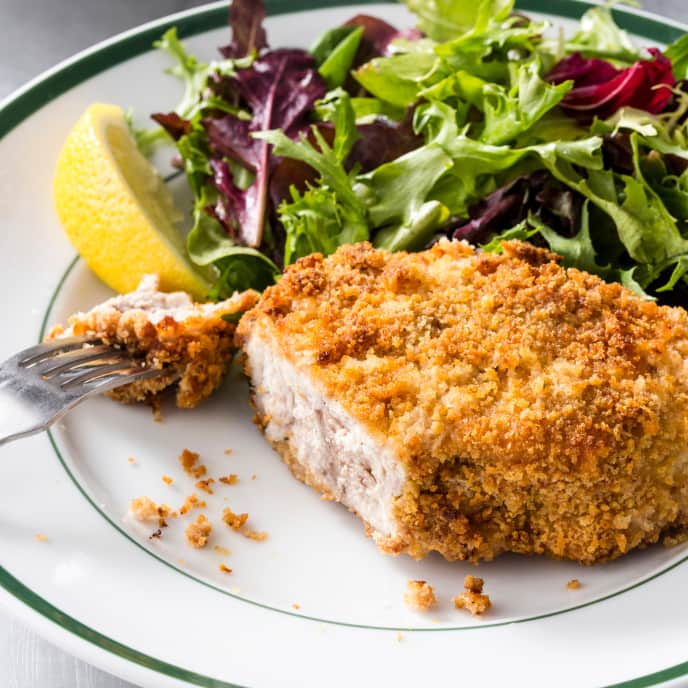 Air-Fryer Crispy Breaded Boneless Pork Chops