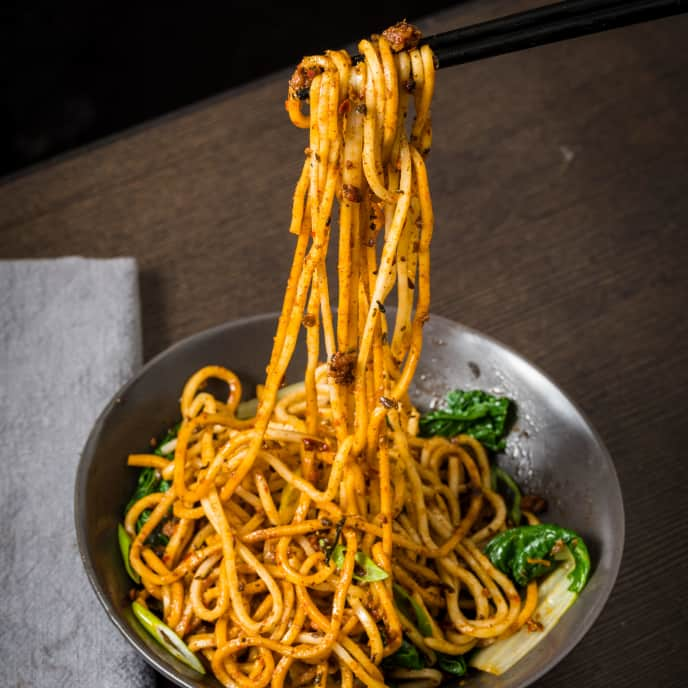 Dan Dan Mian (Sichuan Noodles with Chili Sauce and Pork)