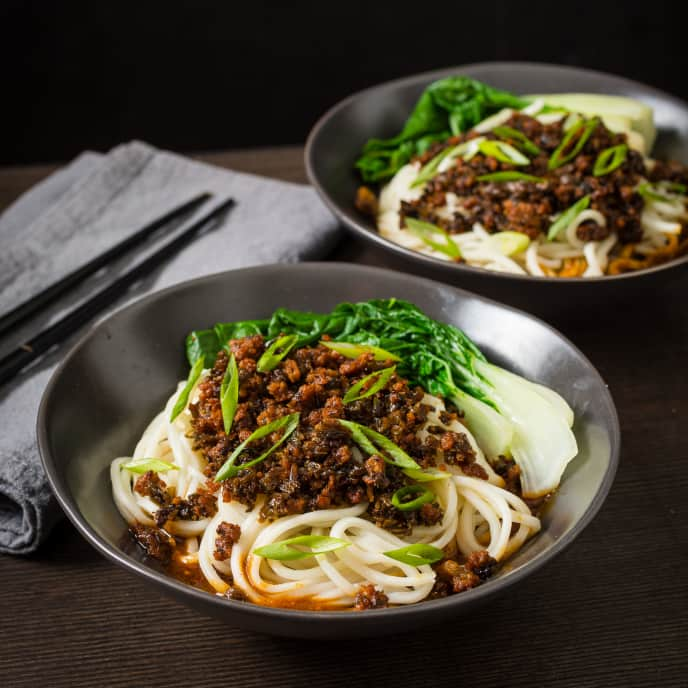 Dan Dan Mian (Sichuan Noodles with Chili Sauce and Pork) for Two