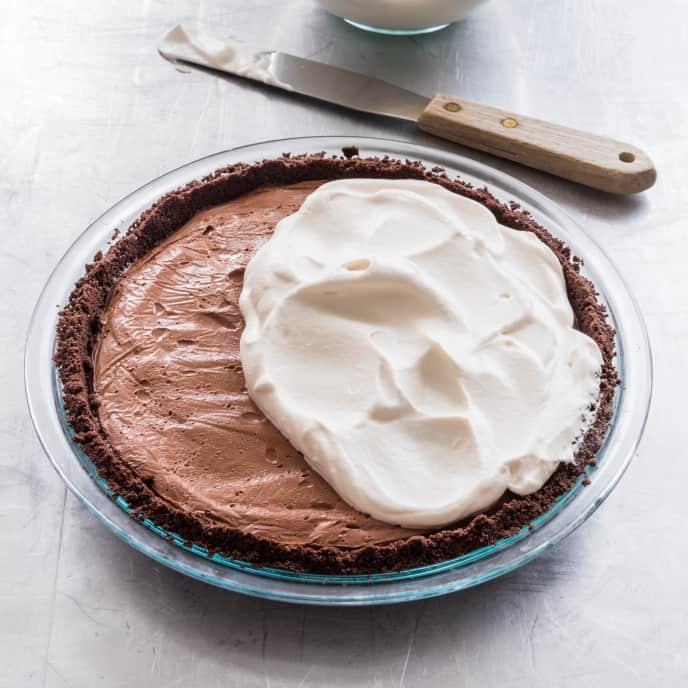 Dark Chocolate Cream Pie (Reduced Sugar)