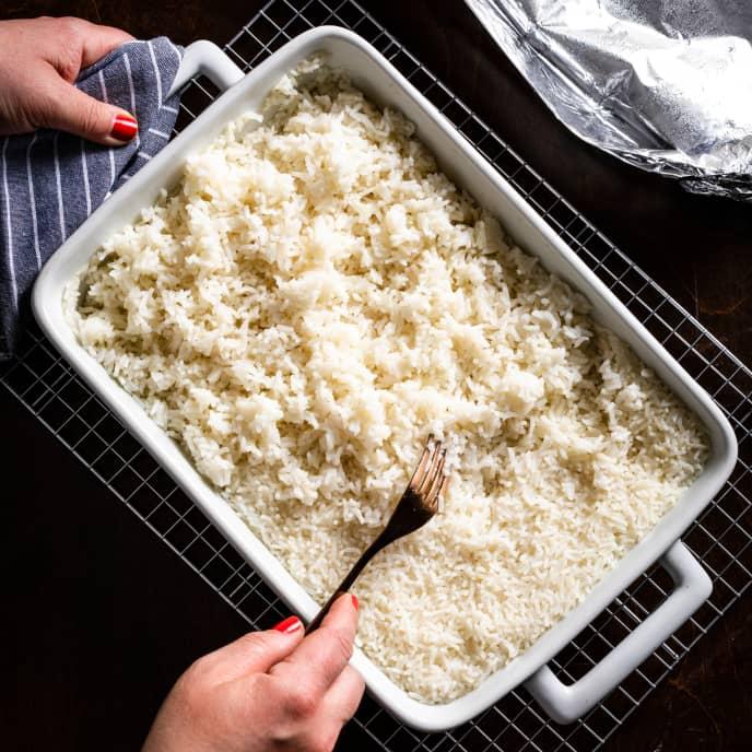 Easy Baked White Rice