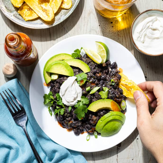 Cuban Black Beans for One