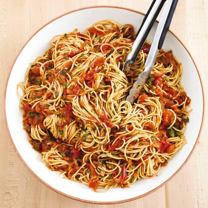 Slow-Cooker Easy Cherry Tomato Pasta Sauce