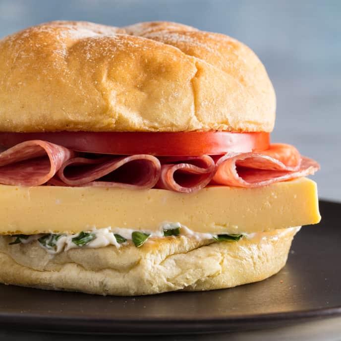 Egg, Salami, and Tomato Sandwiches