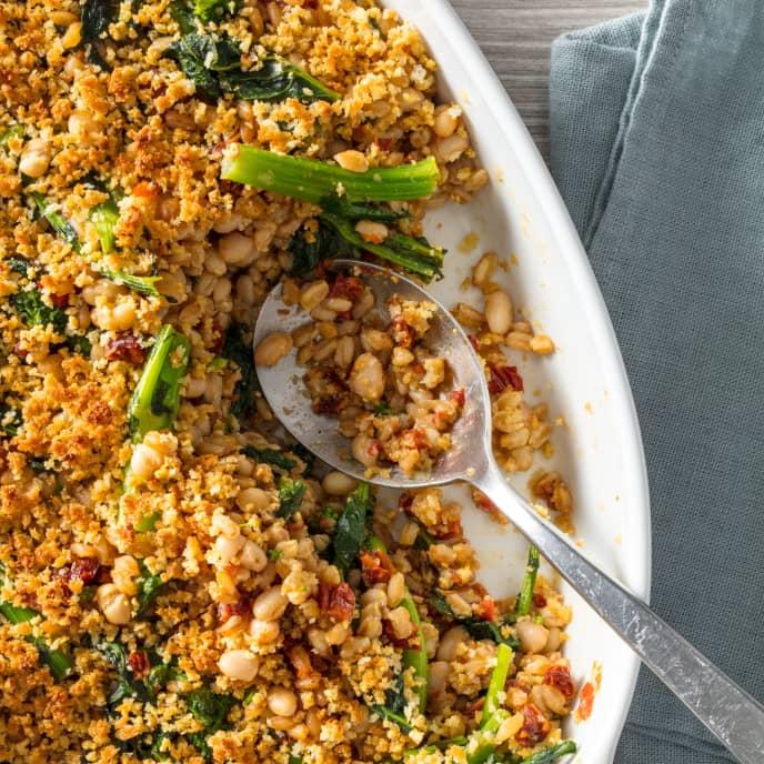 Farro and Broccoli Rabe Gratin