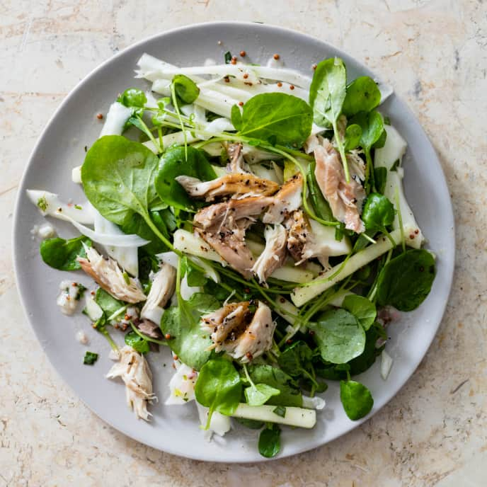 Fennel and Apple Salad with Smoked Mackerel