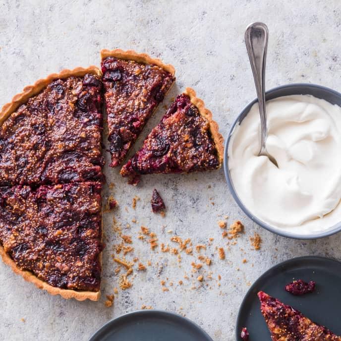 Fig, Cherry, and Walnut Tart