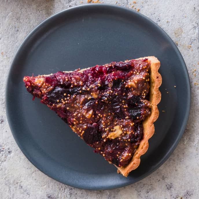 Fig, Cherry, and Walnut Tart (Reduced Sugar)