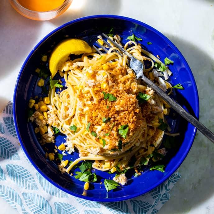 Crab and Corn Pasta