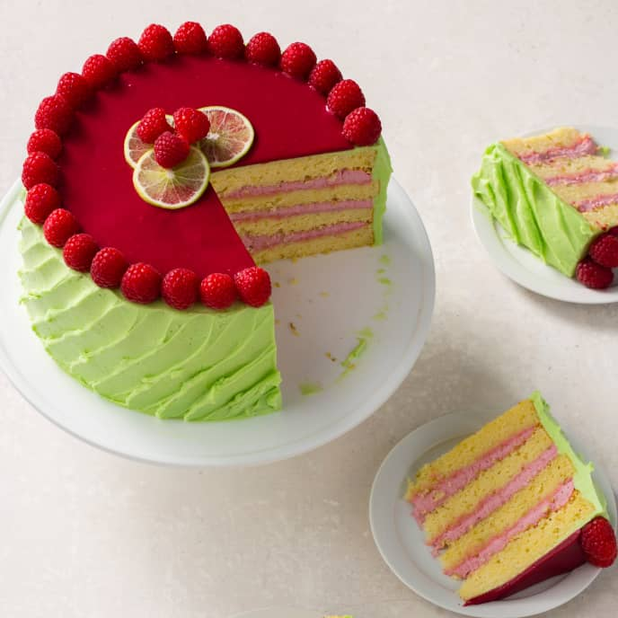 Lime Yellow Cake Layers