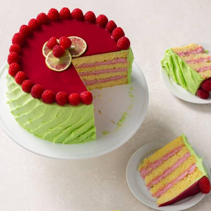 Lime Yellow Cake Layers
