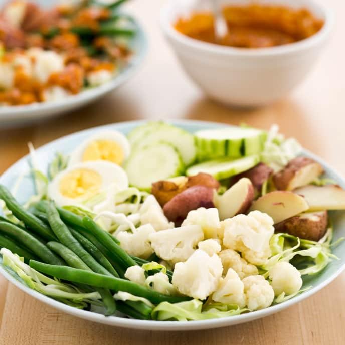 Indonesian Vegetable Salad with Peanut Sauce (Gado-Gado)