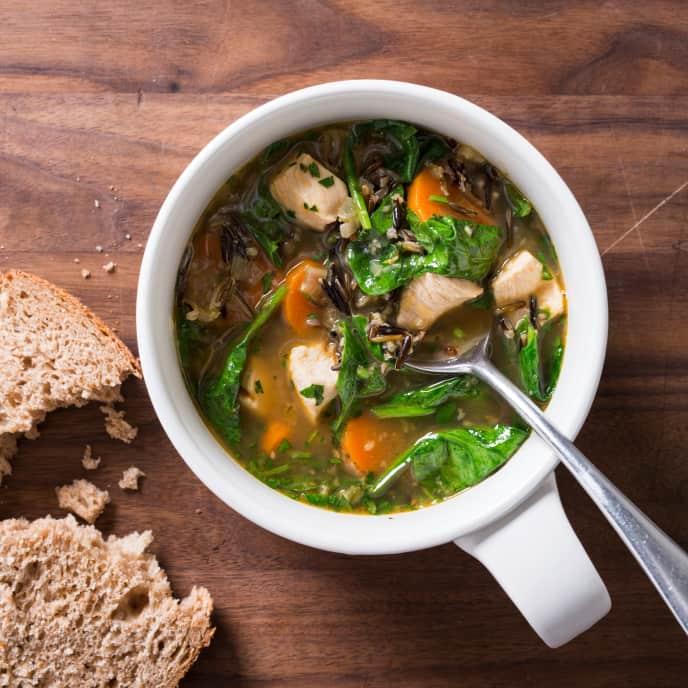 Garlic-Chicken with Wild Rice Soup