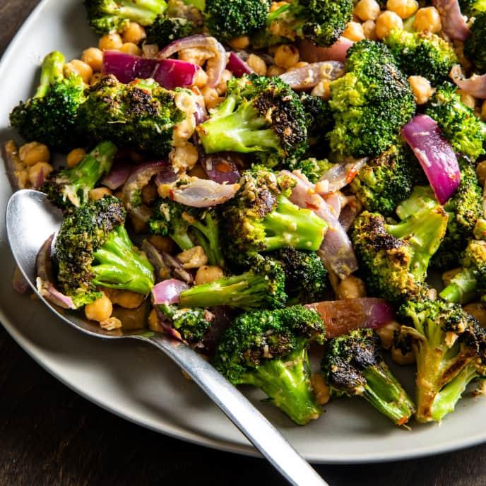 Garlicky Broccoli and Chickpea Salad