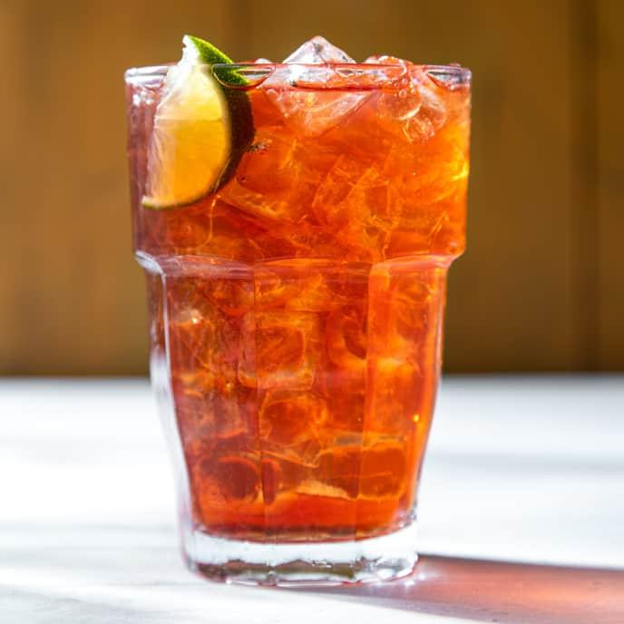 Ginger-Pomegranate Iced Black Tea