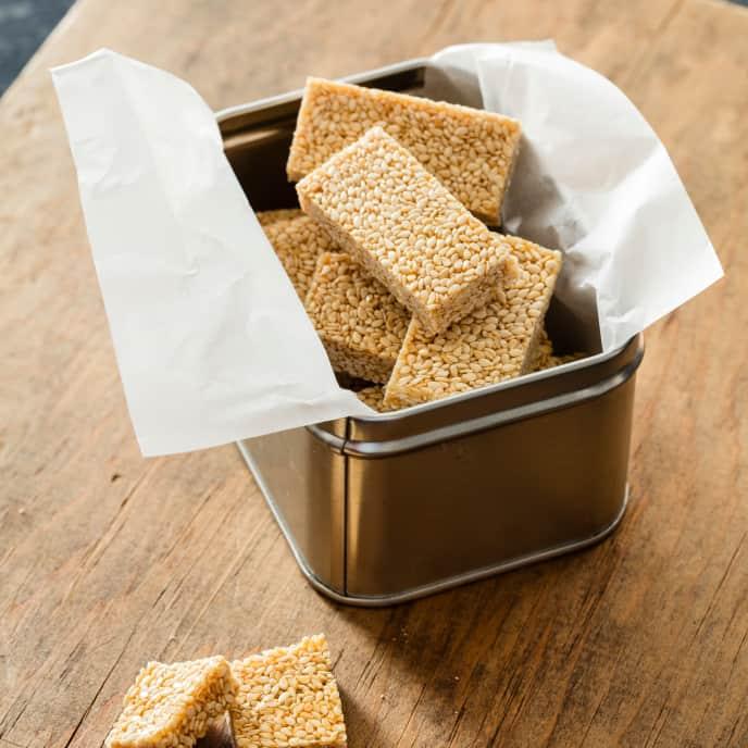 Pasteli (Greek Sesame-Honey Bars)