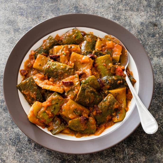 Greek Stewed Zucchini