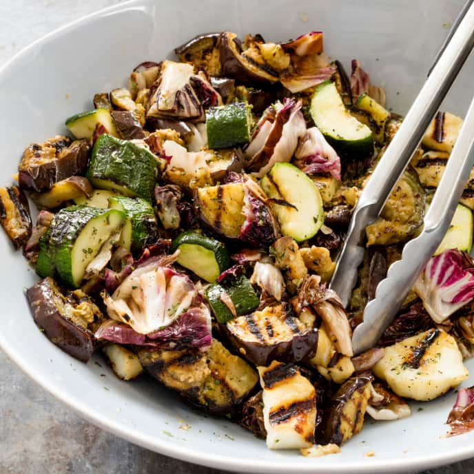 Grilled Vegetable and Halloumi Salad