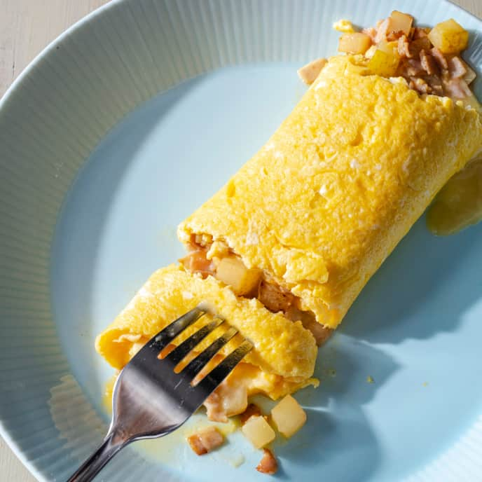 Ham, Pear, and Brie Omelet