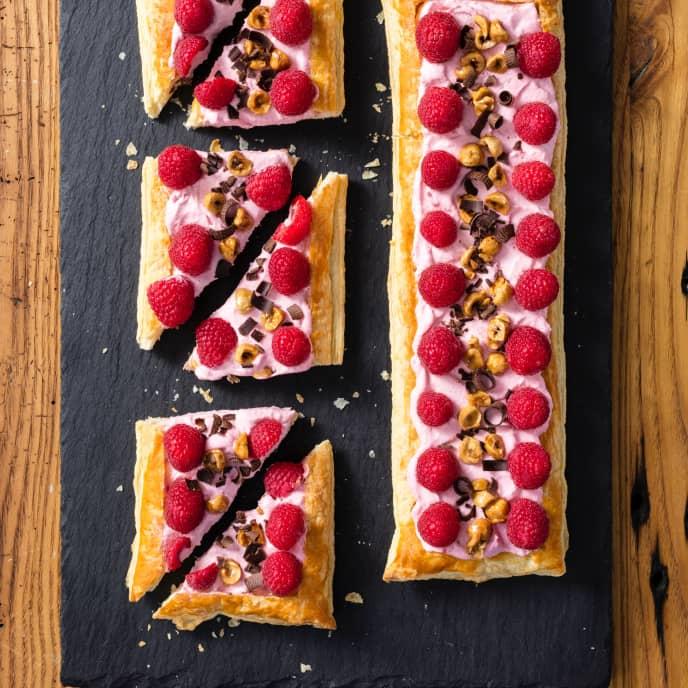 Chocolate-Hazelnut Raspberry Mousse Tart