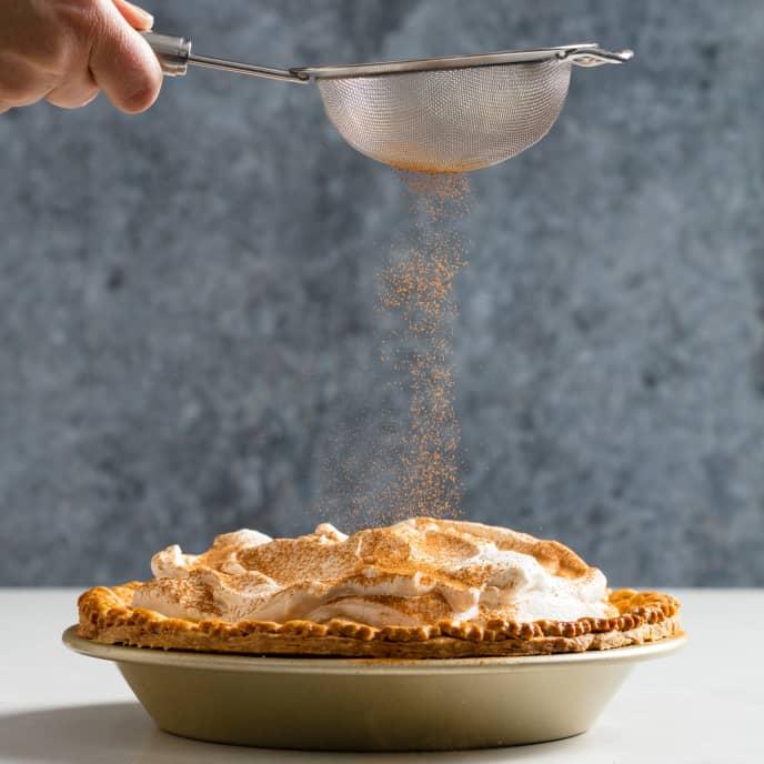Holiday Eggnog Custard Pie