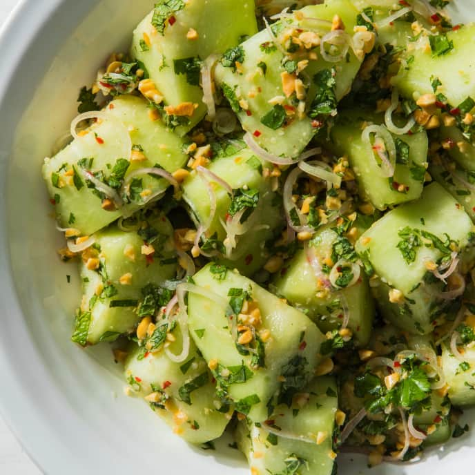 Honeydew Salad with Peanuts and Lime