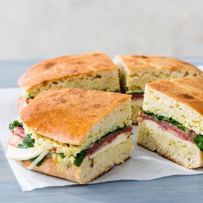 Capicola Picnic Sandwich with Artichoke Spread