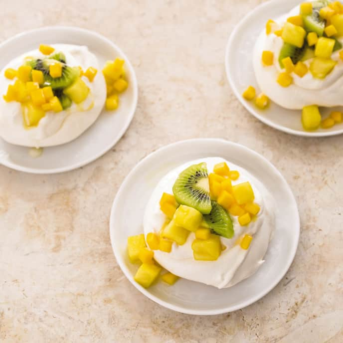 Gluten-Free Individual Pavlovas with Tropical Fruit