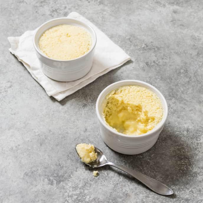 Slow-Cooker Individual Lemon Pudding Cakes