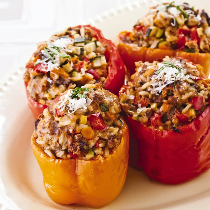Slow-Cooker Italian Stuffed Bell Peppers