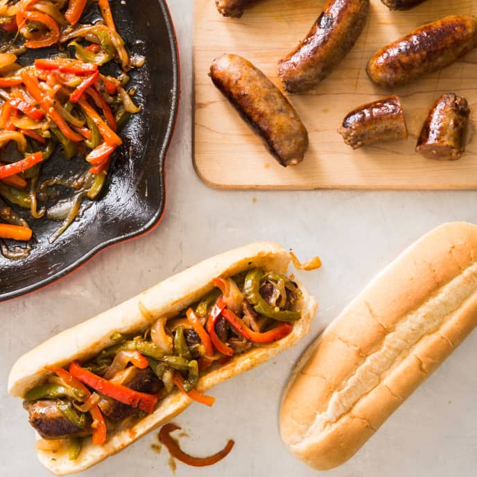 Cast Iron Italian-Style Sausage and Pepper Subs