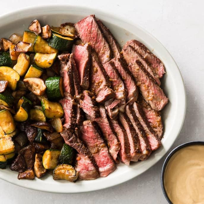 Japanese Steakhouse Steak and Vegetables