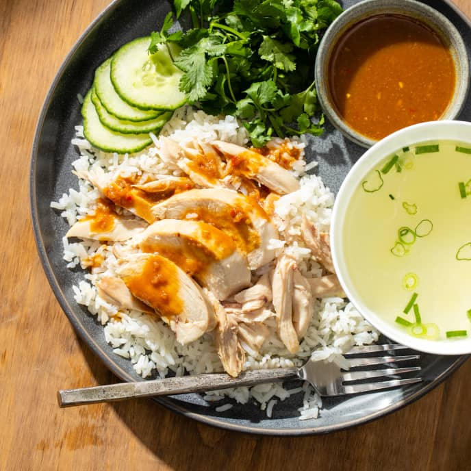 Khao Man Gai (Thai-Style Chicken and Rice)