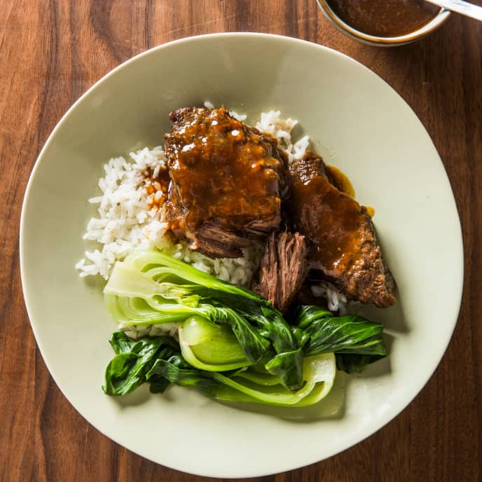 One-Pot Korean-Style Beef Short Ribs with Bok Choy