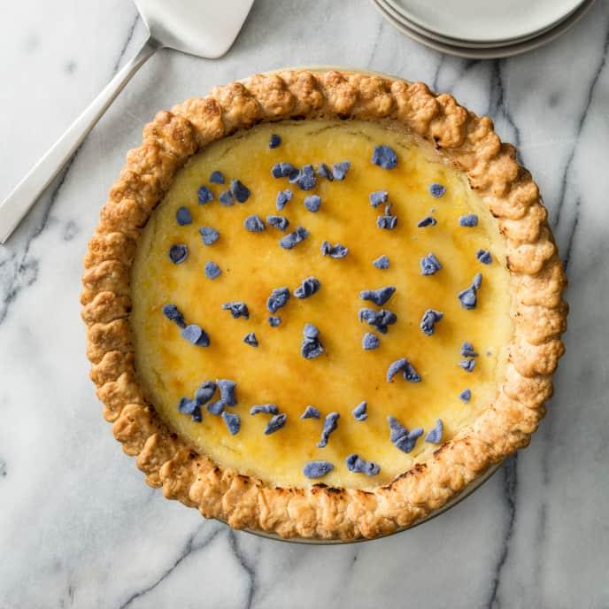 Lavender Crème Brûlée Pie