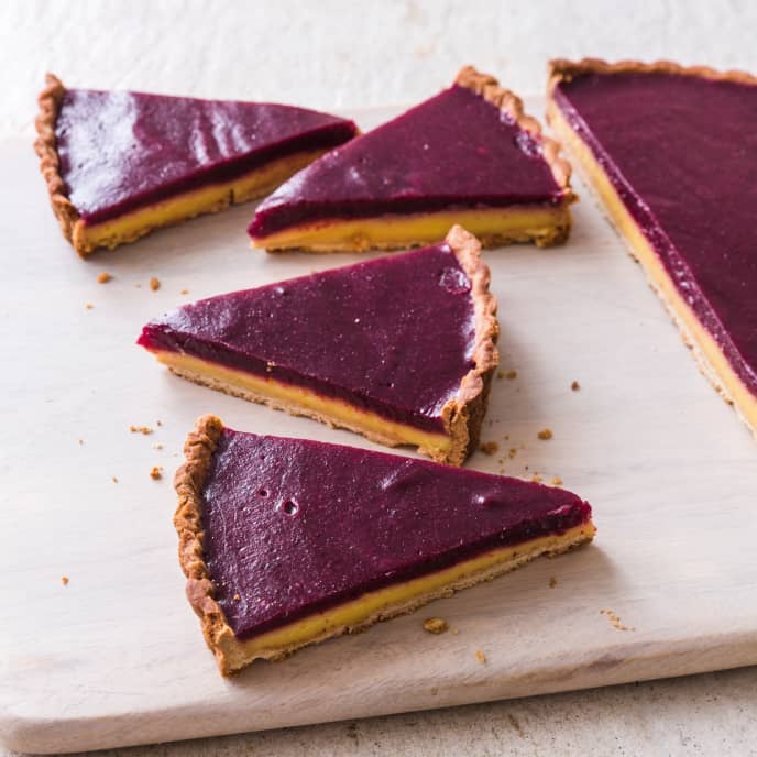 Blueberry–Lemon Curd Tart (Reduced Sugar)