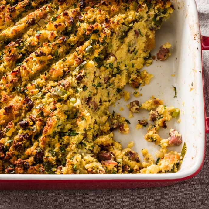 Louisiana-Style Cornbread Dressing