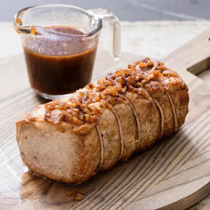 Slow-Cooker Maple-Glazed Pork Loin
