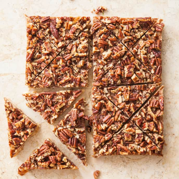 Maple Pecan Bars (Reduced Sugar)