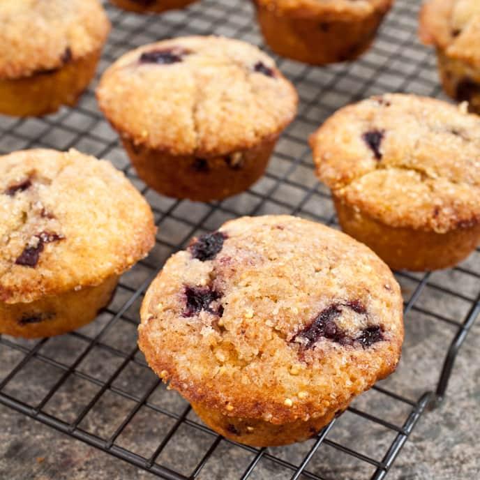 Gluten-Free Millet-Cherry Almond Muffins