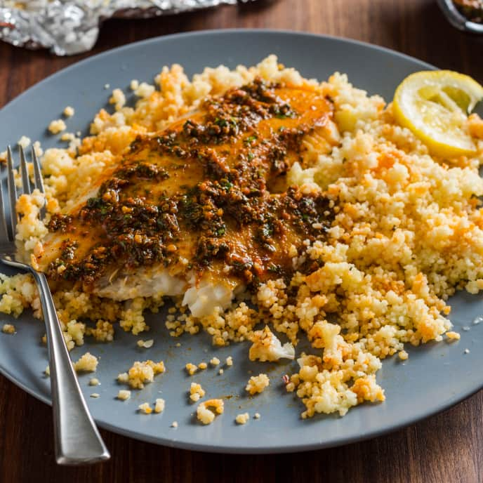 Spiced Fish and Couscous Packets