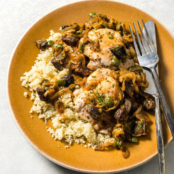 Moroccan Chicken with Green Olives for Two