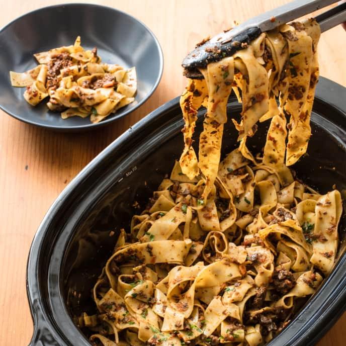 Slow-Cooker Mushroom Bolognese