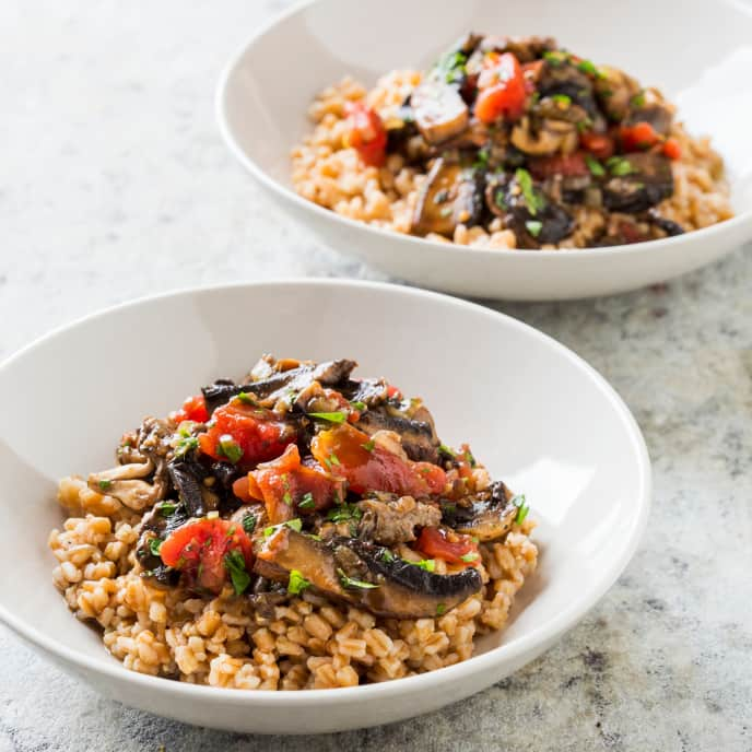 Vegan Mushroom and Farro Stew