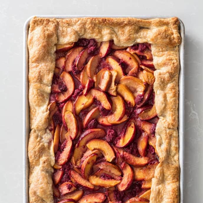 Nectarine and Raspberry Slab Galette